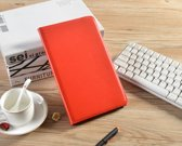 H.K. Draaibaar/Boekhoesje hoesje rood geschikt voor Samsung Galaxy Tab A 2019 (T510) + Glasfolie en stylus pen