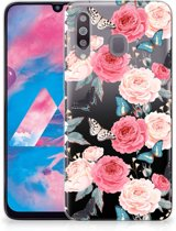 Samsung Galaxy M30 TPU Case Butterfly Roses