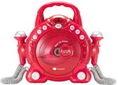 Imaginarium PLAYER DUO RED - CD-speler en Karaokeset met 2 Microfoons - Rood