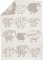 Wollen babydeken Schapenspel 88% Nieuw-Zeelandse wol; 12% katoen | 90x130 cm | Beige | Gemaakt in de EU | Oeko-tex keurmerk