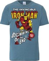 Logoshirt T-Shirt Iron Man Logo - Marvel (XL)
