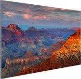Mather Point zonsondergang Grand Canyon Aluminium 90x60 cm - Foto print op Aluminium (metaal wanddecoratie)
