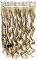 Clip in hair extensions 1 baan wavy blond - 24#