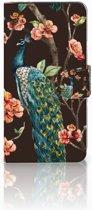 Samsung Galaxy J2 2016 Bookcase hoesje Design Pauw met Bloemen