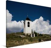 Klokkentoren in het klooster van de oude Orheiul Vechi in Moldavië Canvas 120x80 cm - Foto print op Canvas schilderij (Wanddecoratie woonkamer / slaapkamer)