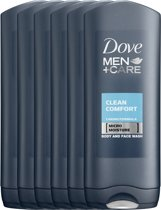 Dove Men+Care Clean Comfort - 6 x 400 ml - Douchegel - Voordeelverpakking