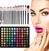 Evvie Ultimate Eyeshadow Kit - 20 delige make-up kwastenset met 88 kleuren oogschaduw palette