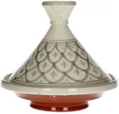 Heuschen & Schrouff - Marokkaanse Tajine Ø 22cm - Decoratief - Grijs/wit