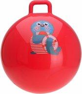Skippybal rood met walrus 55 cm