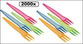 2000x Friet vorkje 9cm  assortie kleuren