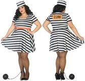 Verkleed kostuum - grote maten - boeven kostuum/jurk Bonnie voor dames - carnavalskleding - voordelig geprijsd XL (42-44)