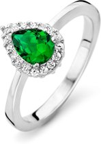Orphelia ZR-7226/EM/58 Zilver Ring Drop Emerald Color Zirconium