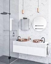 Ronde Spiegel zonder Lijst - 60 x 60 cm - incl. Ophangsysteem