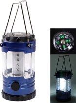 Buiten Camping licht  12 instelbare helderheid Ledlamp met kompas (donkerblauw)