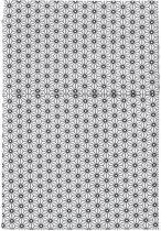 Cottonbaby Ledikantlaken - triangel zwart/wit