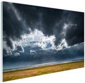 Onweerswolken Glas 180x120 cm - Foto print op Glas (Plexiglas wanddecoratie)