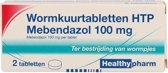 Wormkuurtabletten HTP Mebendazol 100 mg - 2 tabletten