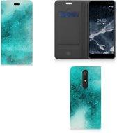 Nokia 5.1 (2018) Bookcase Painting Blue
