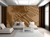Brown Photomural, wallcovering