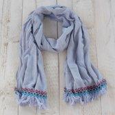 Sjaal 70*180 cm Grijs | MLSC0204S | Clayre & Eef