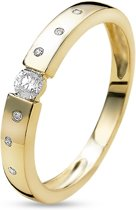 Twice As Nice ring in 18kt verguld zilver, zirkonia  50