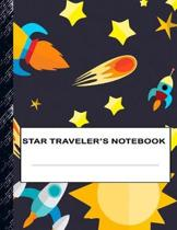 Star Traveler's Notebook: Boys' and Girls Fun Lined Notebook for Grades K-2-3-4