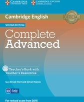 Complete Advanced - second edition teacher's book + resource cd-rom