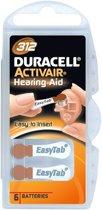 Duracell gehoorapparaat batterijen 312 - Bruin - DA312 - 120 stuks