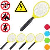 relaxdays 5 x elektrische vliegenmepper - tegen muggen - vliegen mepper elektrisch - geel