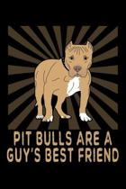 Pit Bulls Are A Guy's Best Friend: A Blank Lined Pitbull Themed Notebook For Men And Boys