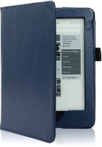 Shop4 - Kobo Glo HD Hoes - Book Cover Lychee Donker Blauw