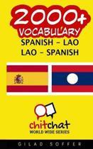 2000+ Spanish - Lao Lao - Spanish Vocabulary
