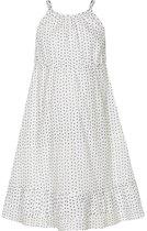 Creamie - jurk - spagettibandjes - model Celine - wit