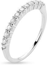 Twice As Nice Ring in zilver, zirkonia Wit 56