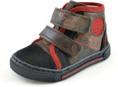 Half hoge leren jongens schoenen met leger print - Maat 20