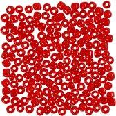 Rocailles afm 6/0 d: 4 mm helder rood 25gr gatgrootte 0 9-1 2 mm