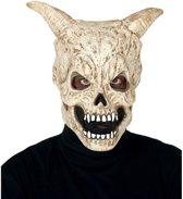 Duivel schedel met hoorns horror masker van latex - Halloween verkleed maskers - Enge maskers