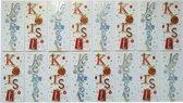 Luxe 3D Kerstkaarten – 16 Stuks - 10 x 23 cm.-KST-012
