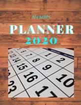 Monthly Planner 2020: 2020 Monthly Planner: Two Year - Monthly Calendar Planner - 24 Months Jan 2020 to Dec 2020 For Academic Agenda Schedul