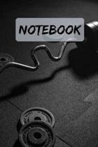 Notebook Gym Dumbbells Notepad Journal Diary: 6x9'' 120 Page Blank lined Note book.