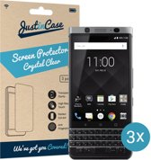 Just in Case Screen Protector BlackBerry KEYone - Crystal Clear - 3 stuks