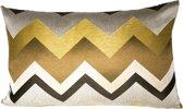 Kussen Aztec - sierkussen - zigzag - zijde - 65x40