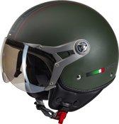 Beon Design Luxe - Groen - Jethelm - Scooterhelm - Motorhelm - S / 56