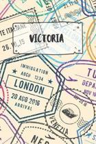 Victoria: Liniertes Reisetagebuch Notizbuch oder Reise Notizheft liniert - Reisen Journal f�r M�nner und Frauen mit Linien