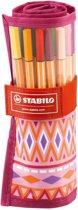 STABILO Pen 68 Rollerset Festival Spirit - Etui 25 stuks