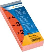 HERMA numeriek toetsenbord zelfklevend 1-500 rood 28x56 mm