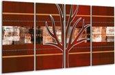Glasschilderij Modern   Bruin, Grijs, Geel   160x80cm 4Luik   Foto print op Glas    F004863