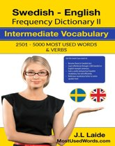 Swedish English Frequency Dictionary II - Intermediate Vocabulary - 2501-5000 Most Used Words & Verbs