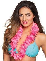 Luxe roze Hawaii ketting voor volwassenen - Verkleedattribuut
