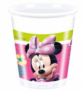 Minnie Mouse Bekers Happy Plastic 200ml 8 stuks